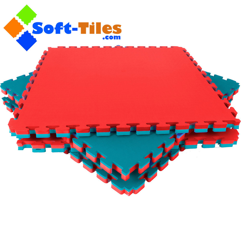 Red Green 120kg/Cbm 20mm Foam Gymnastics Mat 1m*1m